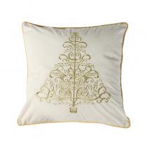 Gold Xmas Tree Cushion