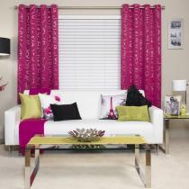 Pizazz Room Darkening Eyelet Curtain