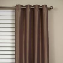Taj Faux Silk Eyelet Curtain